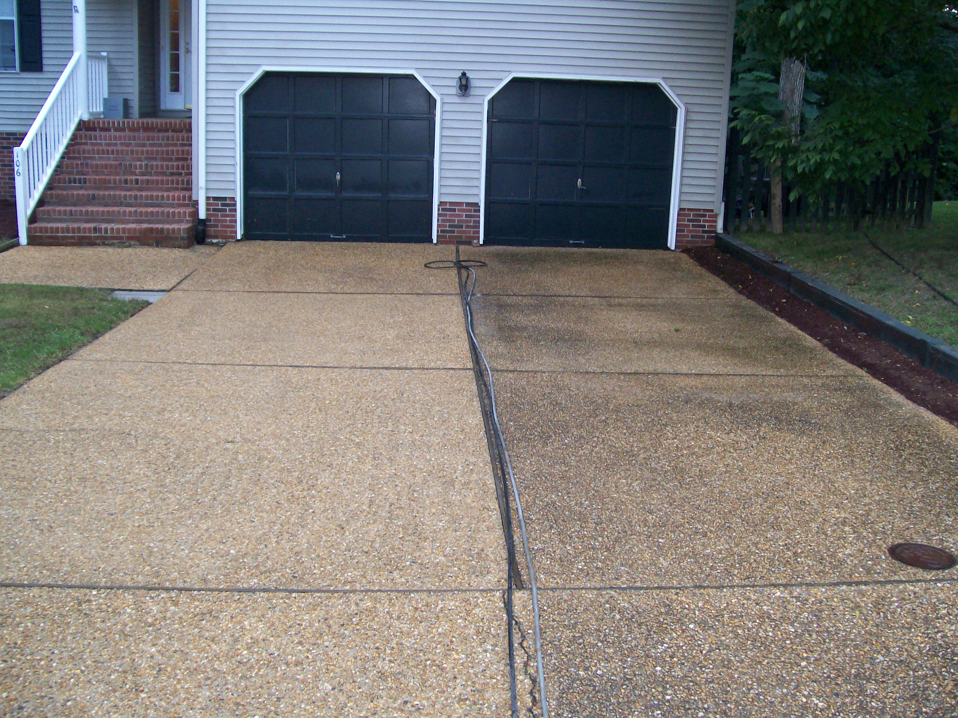 Photo gallery powerwash landscaping for Driveway pressure washer